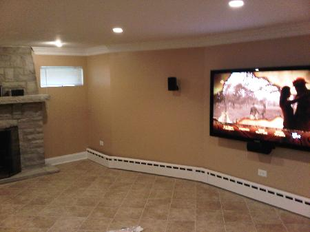 basement remodeling of Hollywood Park Illinois home remodeling picture